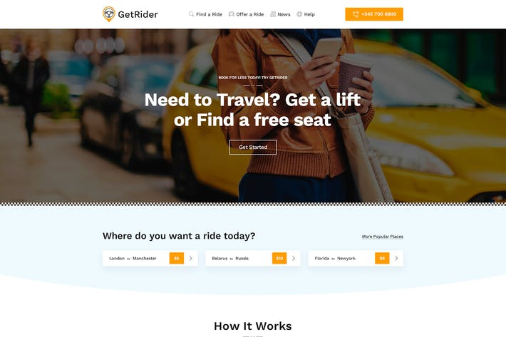 Getrider - Share Ride PSD