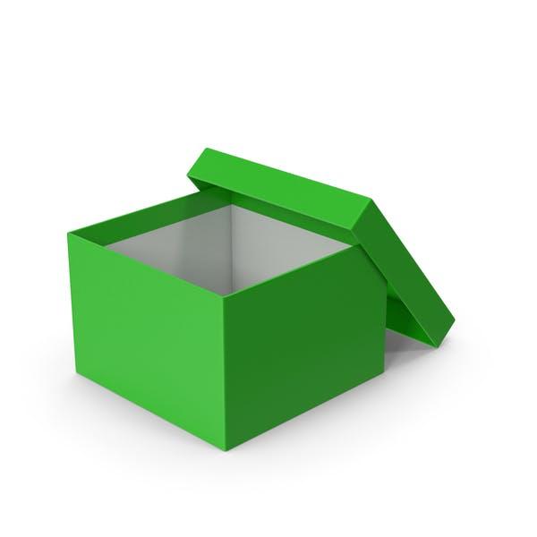 Caja verde abierta