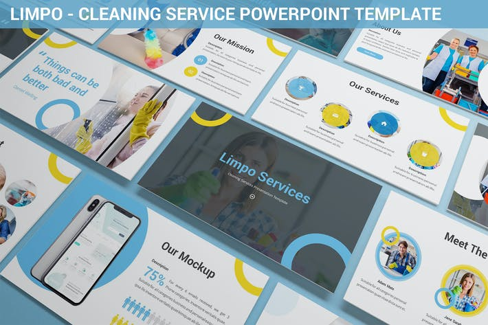 Thumbnail for Limpo - Cleaning Service Powerpoint Template