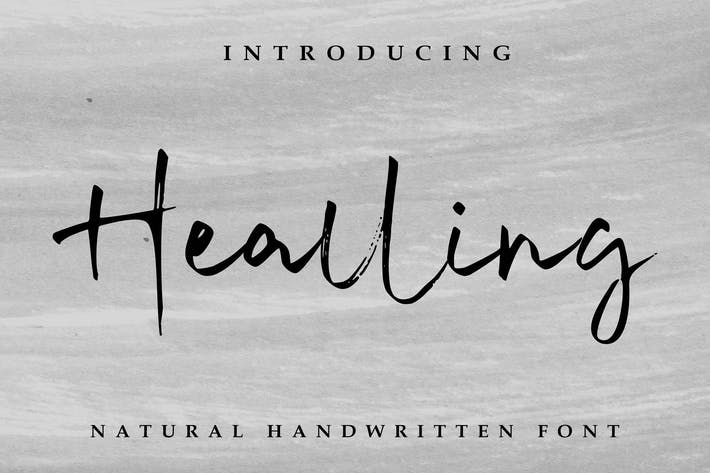 Thumbnail for Healling Signature Font