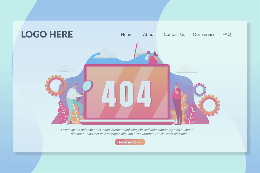 404 Not Found Page - Landing Page