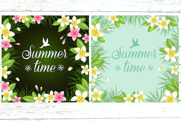 Tropical Summer Floral Frame