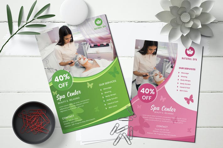 Thumbnail for Corporate spa flyer template