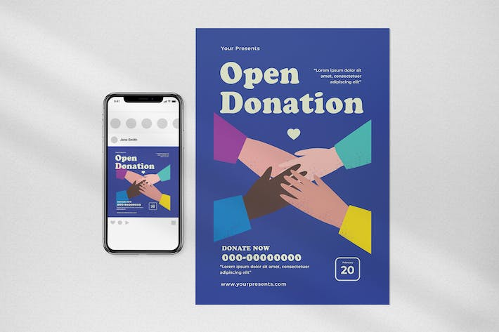 Open Donation Flyer