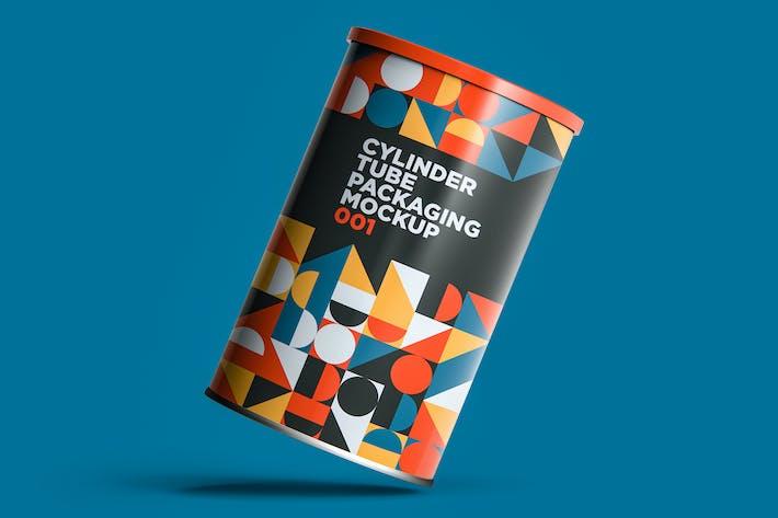 Cover Image For Zylinderrohr Verpackung Mockup 001
