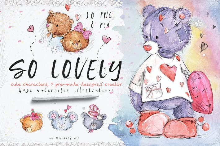Thumbnail for so lovely bears + one mouse