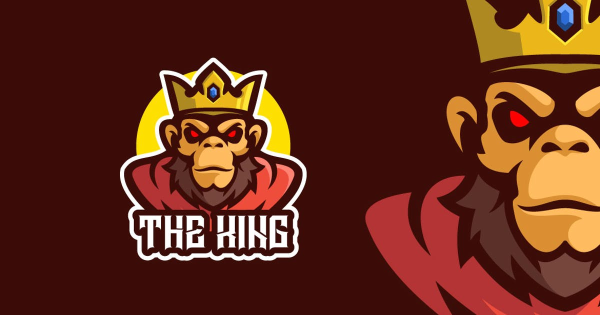 Download Angry Monkey King Mascot Character Logo Template by MightyFire_STD