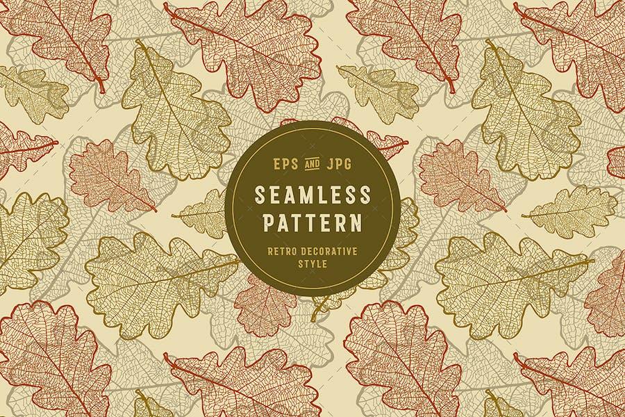 Seamless Oak Pattern