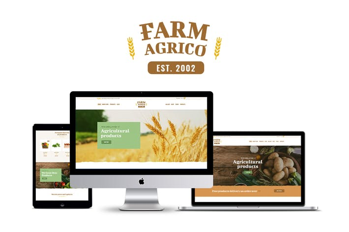 Cover Image For Farm Agrico - Agricultural Business WP Theme