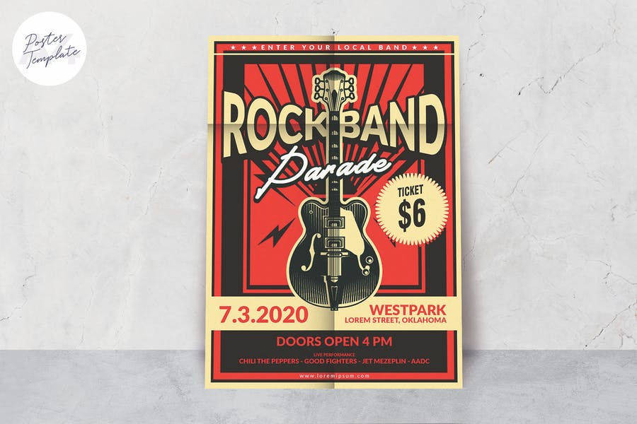 Rock Band Music Poster