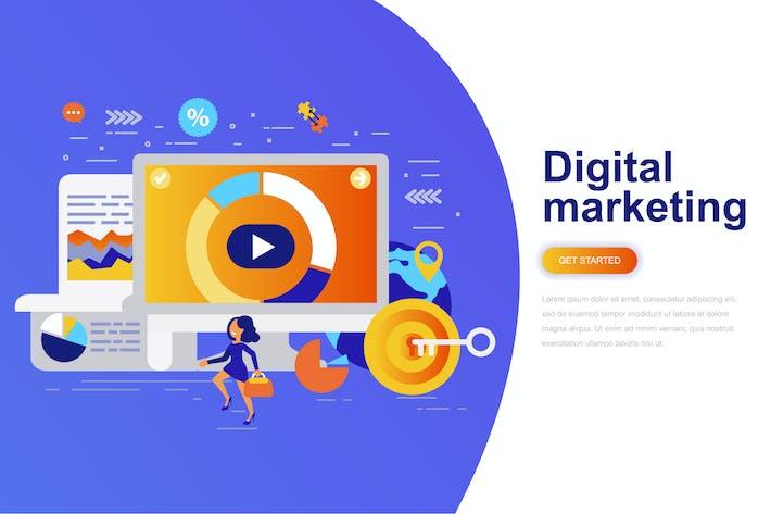 Thumbnail for Digital Marketing Modern Flat Concept