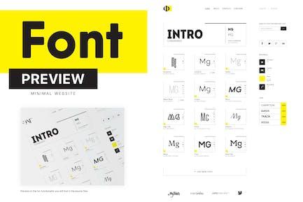 Minimal Font Website