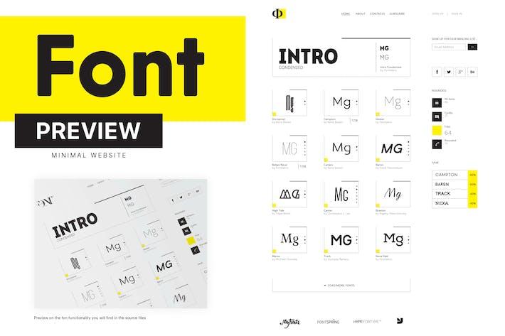 Thumbnail for Minimal Font Website