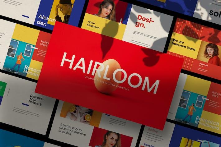 Thumbnail for HAIRLOOM - Google Slide Business Creative
