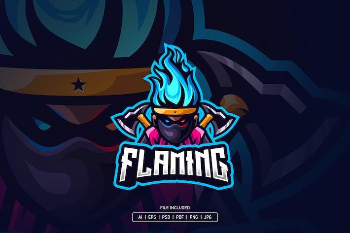 Thumbnail for Flaming head esport logo