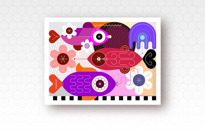 Thumbnail for Underwater Marine Life vector illustration