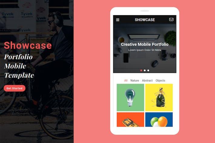 Thumbnail for Showcase - Portfolio Mobile Template