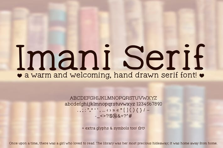 Thumbnail for Imani Serif Cute Handwriting Font (Handwritten)