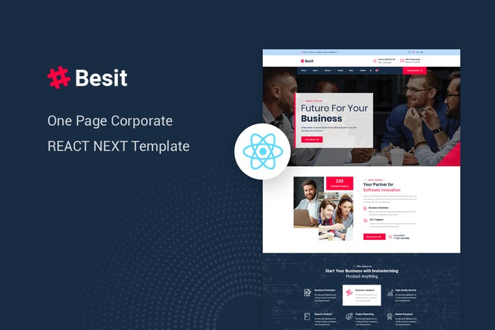Besit - React Next Corporate Page Template