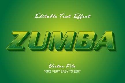 3d Green zumba text effect