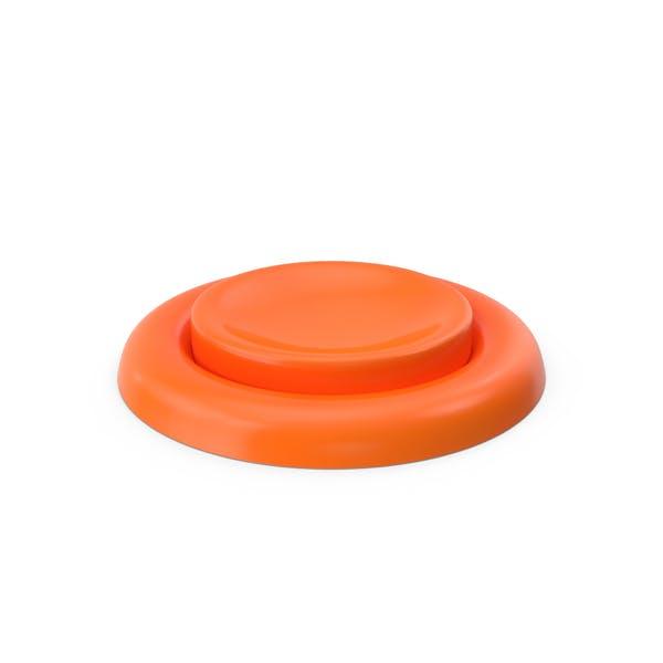 Orange Knopf