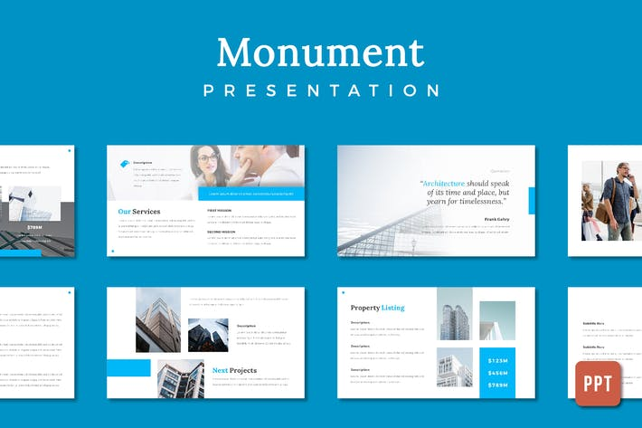 Thumbnail for Monument Building Presentation - (PPT)