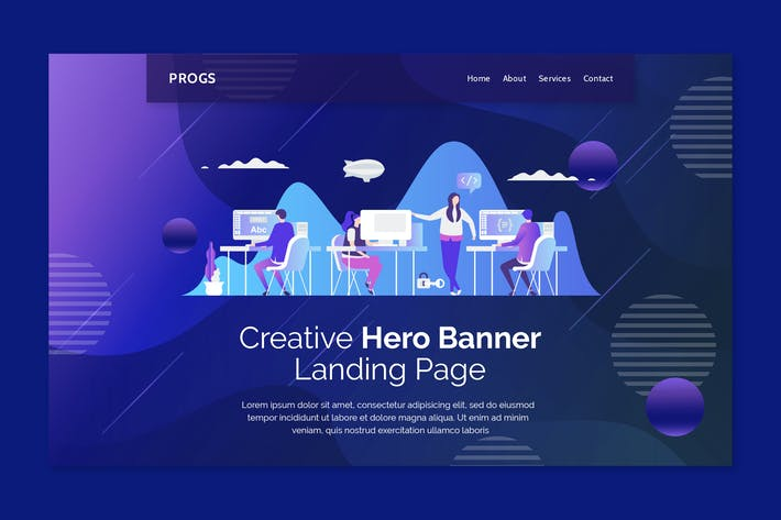 Progs - Hero Banner Template
