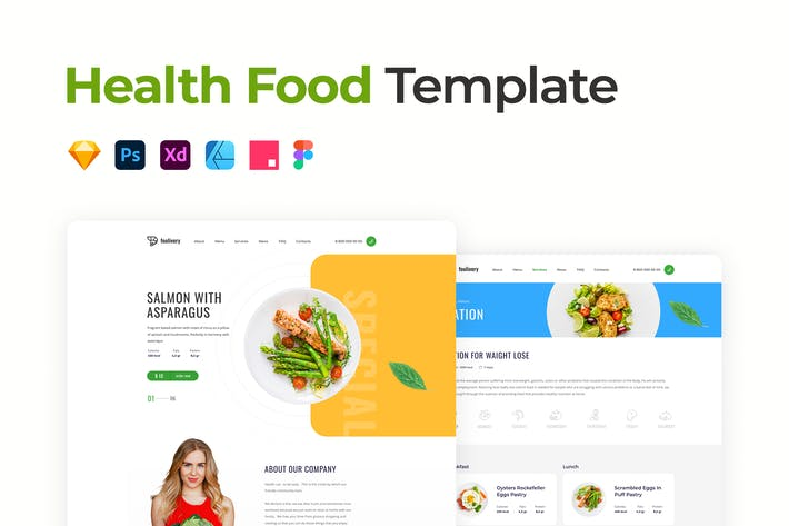 Thumbnail for Health Food Template