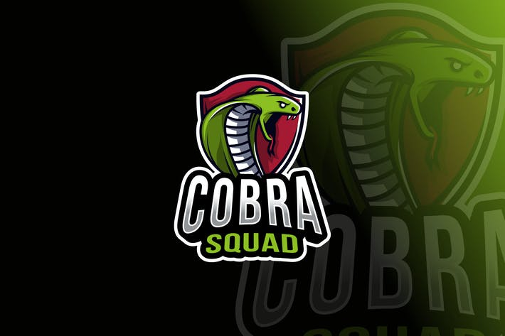 Thumbnail for Cobra Squad Logo Template