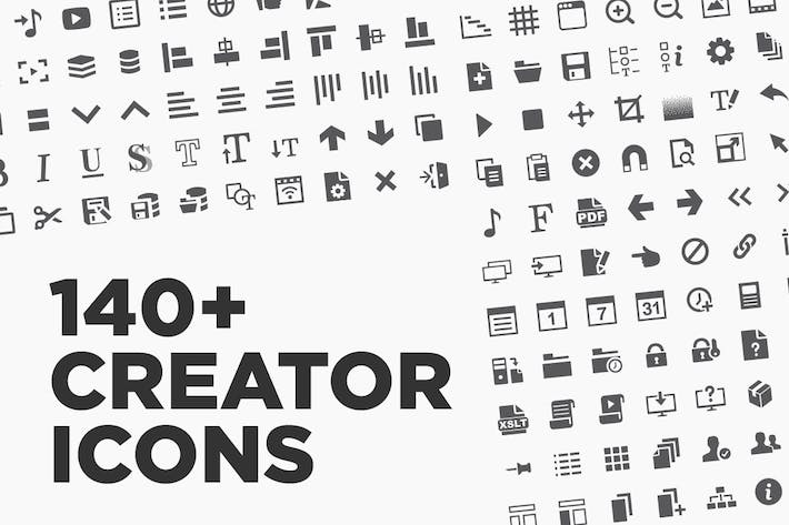 Thumbnail for 140+ Creator Application Icons