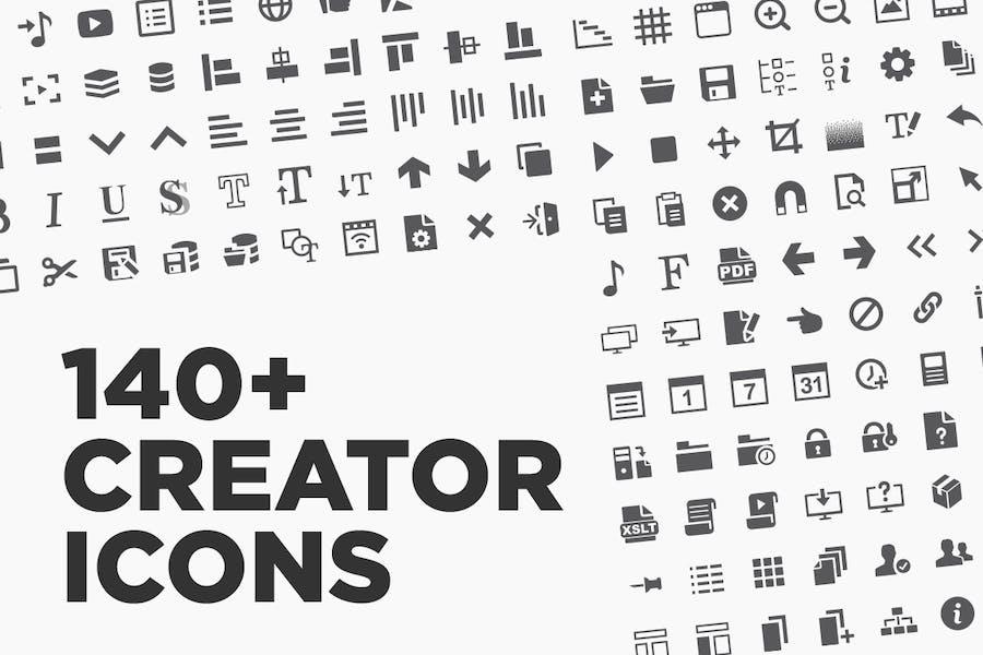 140+ Creator Application Icons