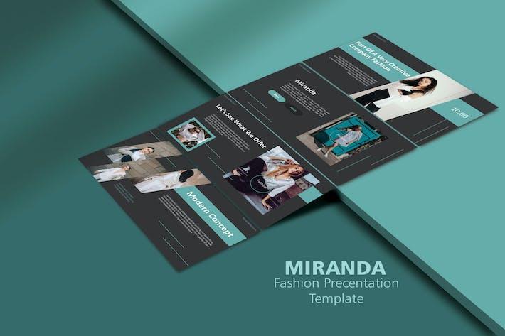 Thumbnail for Миранда - Мода Google Слайд Шаблон