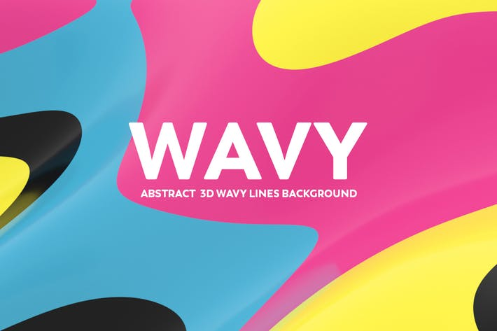 Thumbnail for Abstract  3D Wavy Lines Background - Retro Color