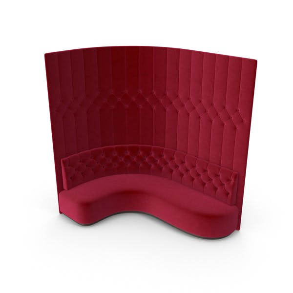 Cover Image for Red Velevet Tall Corner Tufted Club Sofa
