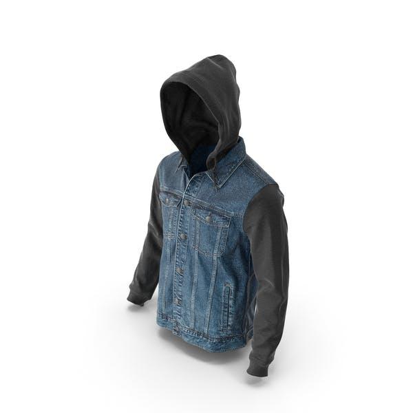 Mens Jean Jacket Dark Blue Black
