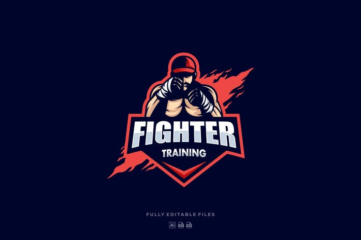 Thumbnail for Boxer Sports and E-sports Style Logo