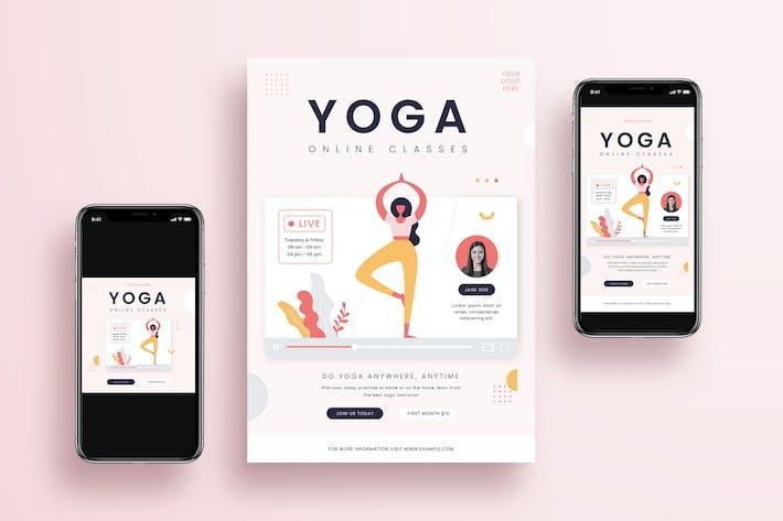 Thumbnail for Yoga Online Class Flyer + Social Media