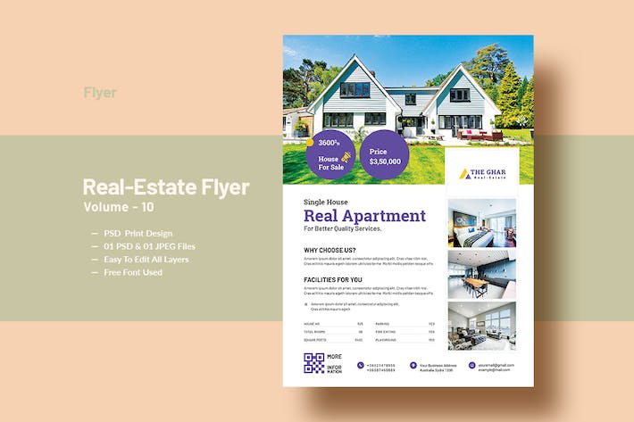 Cover Image For Real Estate (Apartment Sales) Flyer Template V-10