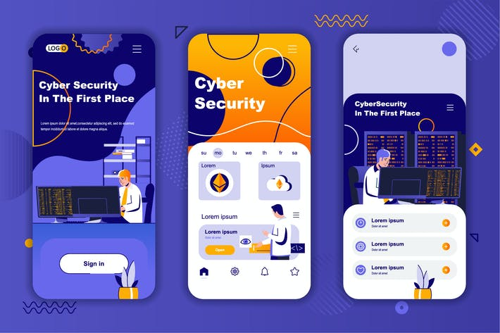 Cybersecurity Instagram Stories Onboarding Screens
