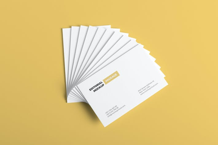 Thumbnail for Business Cards Mockup Vol. 2