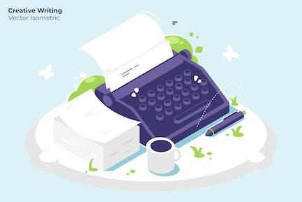Escritura creativa - Ilustración Vector