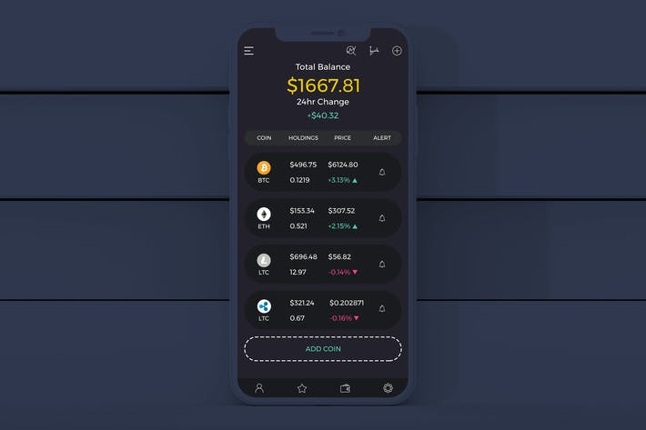 Thumbnail for Coin Wallet Mobile Ui - H