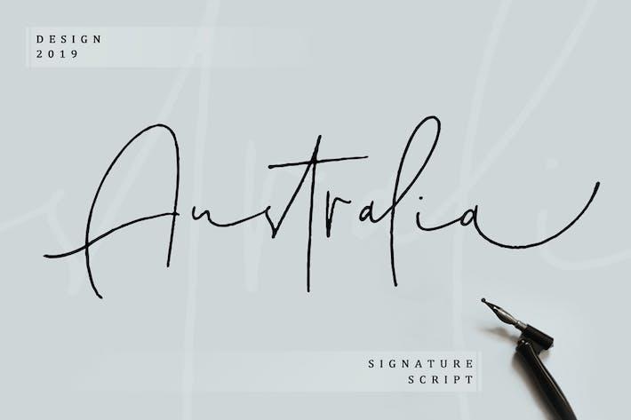 Cover Image For Australia Signature Script
