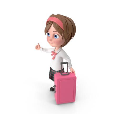 Cartoon Mädchen Reisen