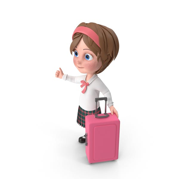 Cover Image for Cartoon Girl Travelling