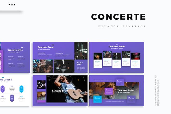 Концерт - Шаблон Keynote