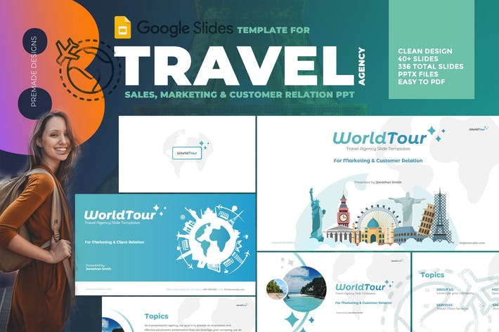 Thumbnail for Travel Agency Google Slide Template