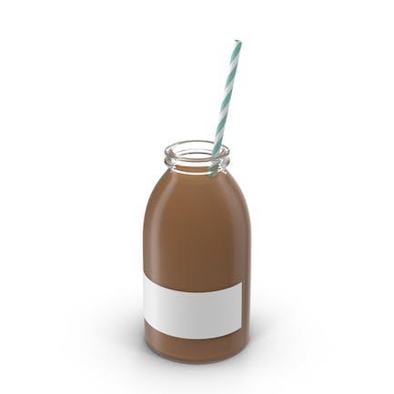 Botella de leche de chocolate