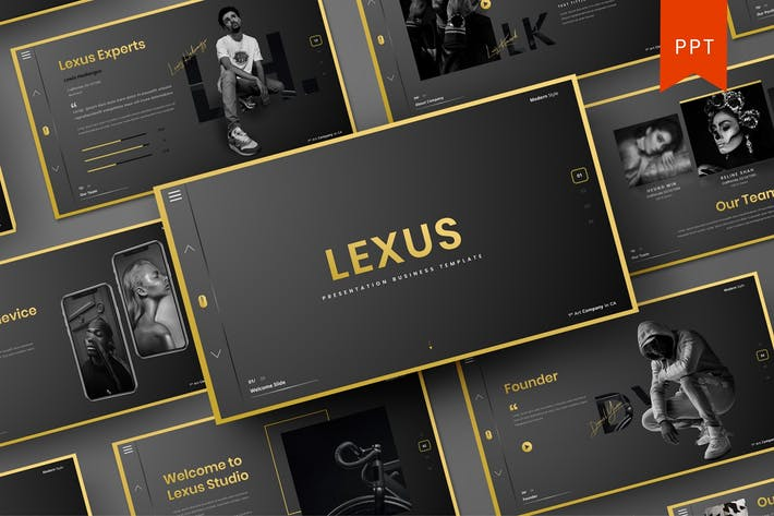 Thumbnail for Lexus – Business PowerPoint Template