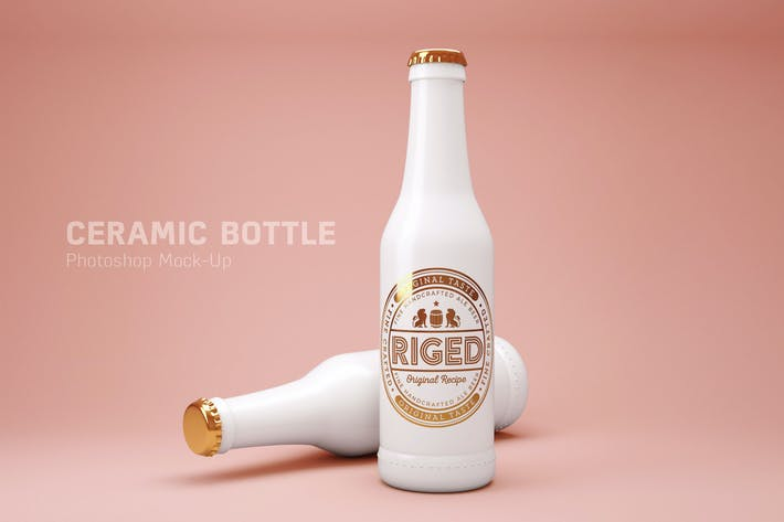 Thumbnail for Ceramic bottle PSD Mock-Up